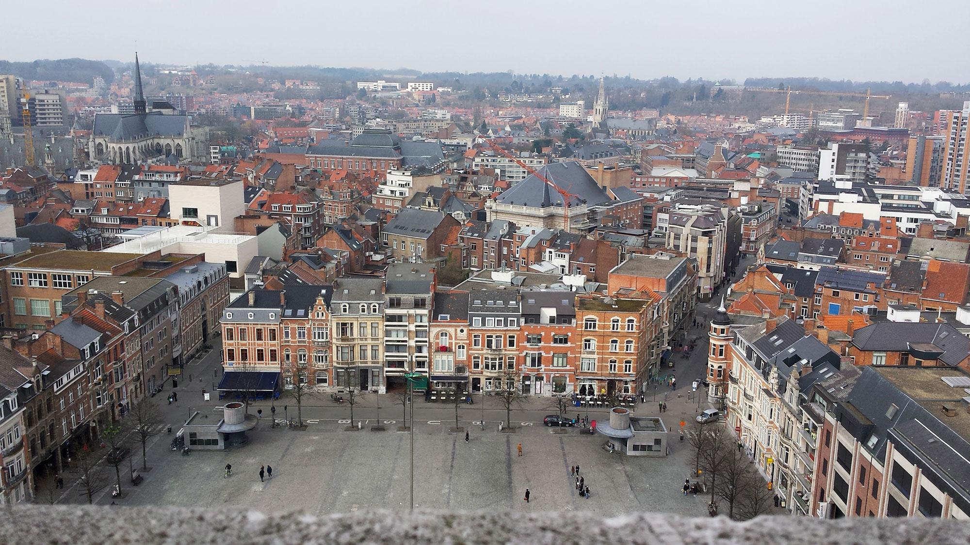 Uitzicht bibliotheektoren Leuven